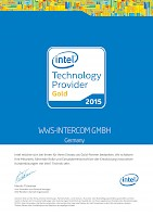 Intel Technology Provider Gold 2015 Zertifikat