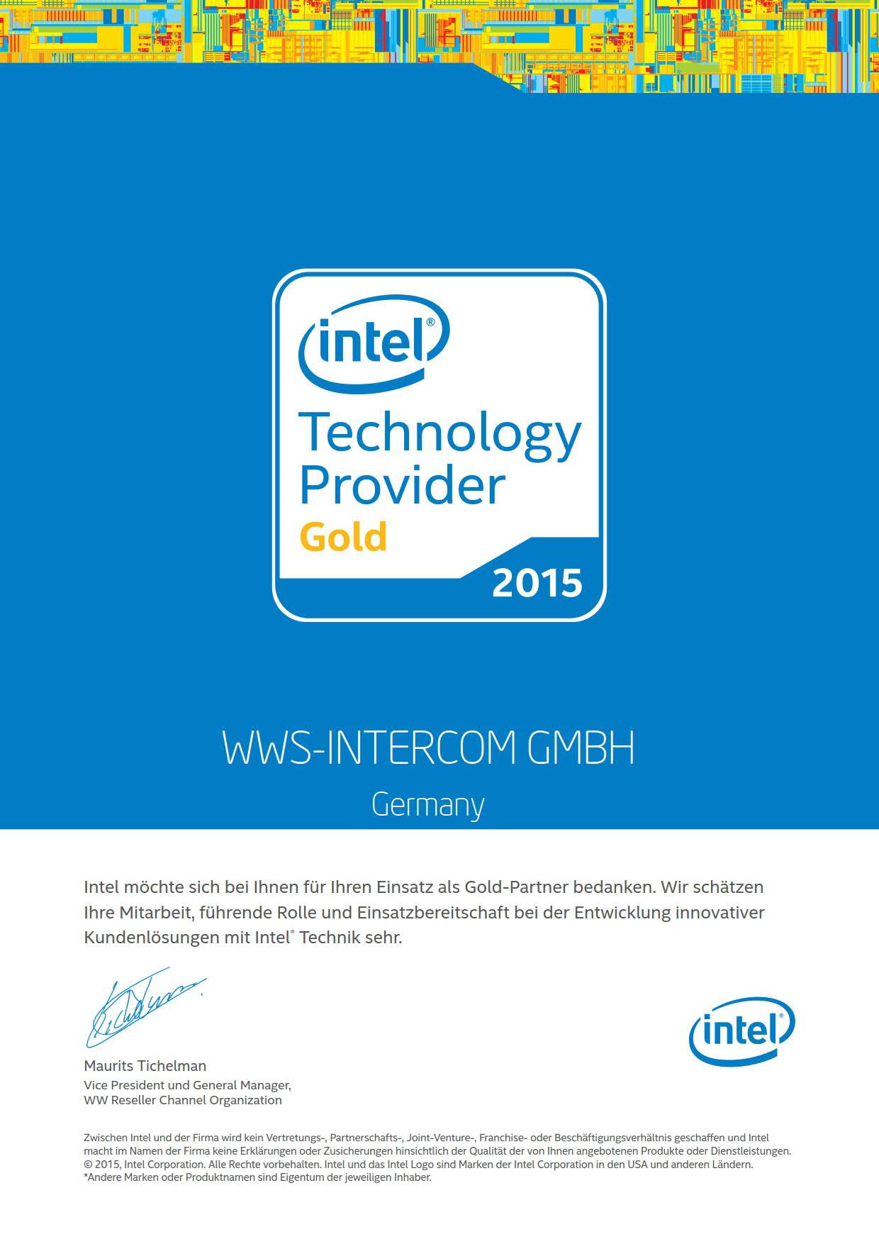 Intel Technology Provider Gold Partner Fur Hardware Wws Intercom