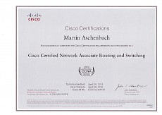 Cisco Zertifikat CCNA (Routing und Switching)