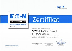 Eaton Autohrised Power Advantage Partner Zertifikat