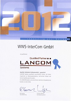 Lancom Advanced Partner 2012 Zertifikat