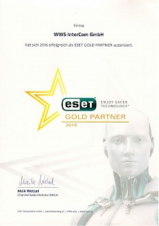 WWS-InterCom Eset Gold Partner 2016