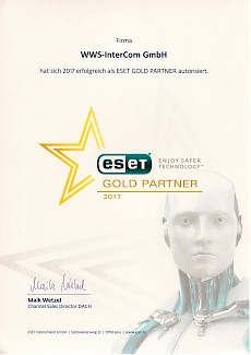 WWS-InterCom Eset Gold Partner 2017