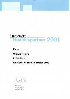 WWS-InterCom Microsoft Partner 2001