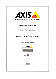 WWS-InterCom ist autorisierter Axis Partner in Göttingen