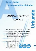 WWS-InterCom Authorisierter Auerswald Fachhandelspartner