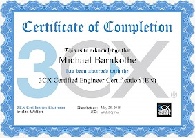Zertifikat: 3CX Certified Engineer